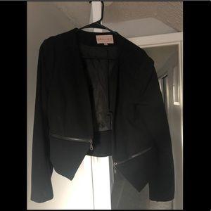 Black zippered blazer